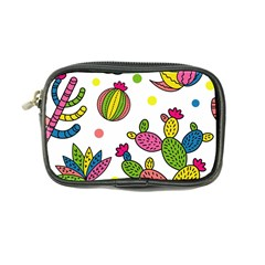 Cactus Seamless Pattern Background Polka Wave Rainbow Coin Purse