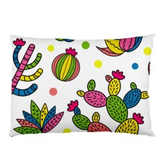 Cactus Seamless Pattern Background Polka Wave Rainbow Pillow Case (two Sides) by Mariart