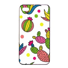 Cactus Seamless Pattern Background Polka Wave Rainbow Apple Iphone 4/4s Seamless Case (black) by Mariart