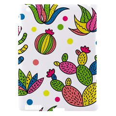 Cactus Seamless Pattern Background Polka Wave Rainbow Apple Ipad 3/4 Hardshell Case (compatible With Smart Cover) by Mariart