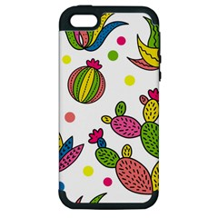 Cactus Seamless Pattern Background Polka Wave Rainbow Apple Iphone 5 Hardshell Case (pc+silicone) by Mariart