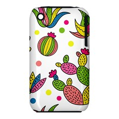 Cactus Seamless Pattern Background Polka Wave Rainbow Iphone 3s/3gs by Mariart