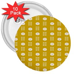 Circle Polka Chevron Orange Pink Spot Dots 3  Buttons (10 Pack)  by Mariart