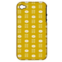 Circle Polka Chevron Orange Pink Spot Dots Apple Iphone 4/4s Hardshell Case (pc+silicone) by Mariart