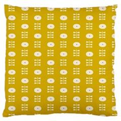 Circle Polka Chevron Orange Pink Spot Dots Large Flano Cushion Case (one Side) by Mariart