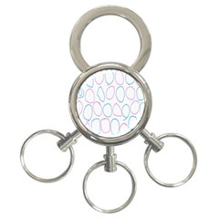 Circles Featured Pink Blue 3 Ring Key Chains by Mariart