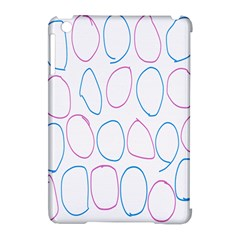 Circles Featured Pink Blue Apple Ipad Mini Hardshell Case (compatible With Smart Cover) by Mariart