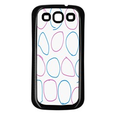 Circles Featured Pink Blue Samsung Galaxy S3 Back Case (black) by Mariart