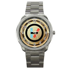 Twenty One Pilots Shield Sport Metal Watch by Onesevenart