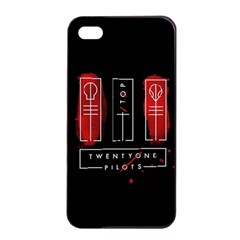 Twenty One Pilots Apple Iphone 4/4s Seamless Case (black) by Onesevenart