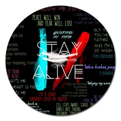 Twenty One Pilots Stay Alive Song Lyrics Quotes Magnet 5  (round) by Onesevenart