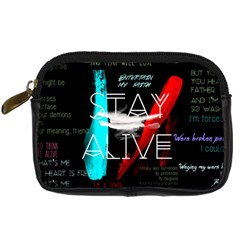Twenty One Pilots Stay Alive Song Lyrics Quotes Digital Camera Cases by Onesevenart