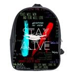 Twenty One Pilots Stay Alive Song Lyrics Quotes School Bag (Large)