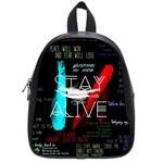 Twenty One Pilots Stay Alive Song Lyrics Quotes School Bag (Small)