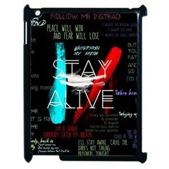Twenty One Pilots Stay Alive Song Lyrics Quotes Apple Ipad 2 Case (black) by Onesevenart