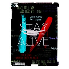 Twenty One Pilots Stay Alive Song Lyrics Quotes Apple Ipad 3/4 Hardshell Case (compatible With Smart Cover) by Onesevenart
