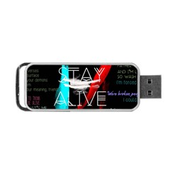 Twenty One Pilots Stay Alive Song Lyrics Quotes Portable Usb Flash (two Sides) by Onesevenart