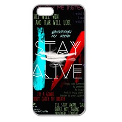 Twenty One Pilots Stay Alive Song Lyrics Quotes Apple Seamless Iphone 5 Case (clear) by Onesevenart