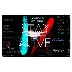 Twenty One Pilots Stay Alive Song Lyrics Quotes Apple Ipad 2 Flip Case by Onesevenart