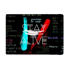 Twenty One Pilots Stay Alive Song Lyrics Quotes Apple Ipad Mini Flip Case by Onesevenart