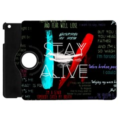 Twenty One Pilots Stay Alive Song Lyrics Quotes Apple Ipad Mini Flip 360 Case by Onesevenart