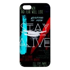 Twenty One Pilots Stay Alive Song Lyrics Quotes Apple Iphone 5 Premium Hardshell Case by Onesevenart
