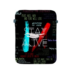 Twenty One Pilots Stay Alive Song Lyrics Quotes Apple Ipad 2/3/4 Protective Soft Cases by Onesevenart