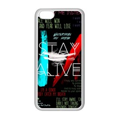 Twenty One Pilots Stay Alive Song Lyrics Quotes Apple Iphone 5c Seamless Case (white) by Onesevenart