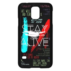 Twenty One Pilots Stay Alive Song Lyrics Quotes Samsung Galaxy S5 Case (black) by Onesevenart