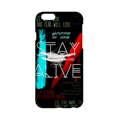 Twenty One Pilots Stay Alive Song Lyrics Quotes Apple Iphone 6/6s Hardshell Case by Onesevenart
