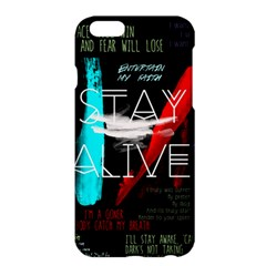 Twenty One Pilots Stay Alive Song Lyrics Quotes Apple Iphone 6 Plus/6s Plus Hardshell Case by Onesevenart