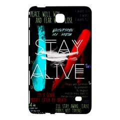 Twenty One Pilots Stay Alive Song Lyrics Quotes Samsung Galaxy Tab 4 (8 ) Hardshell Case  by Onesevenart