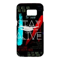 Twenty One Pilots Stay Alive Song Lyrics Quotes Samsung Galaxy S7 Hardshell Case  by Onesevenart
