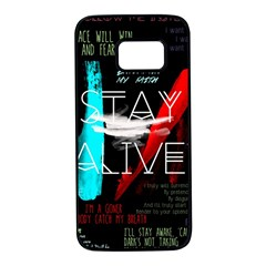 Twenty One Pilots Stay Alive Song Lyrics Quotes Samsung Galaxy S7 Black Seamless Case by Onesevenart