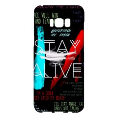 Twenty One Pilots Stay Alive Song Lyrics Quotes Samsung Galaxy S8 Plus Hardshell Case  by Onesevenart