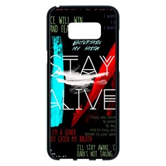 Twenty One Pilots Stay Alive Song Lyrics Quotes Samsung Galaxy S8 Plus Black Seamless Case by Onesevenart