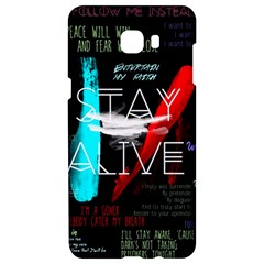 Twenty One Pilots Stay Alive Song Lyrics Quotes Samsung C9 Pro Hardshell Case  by Onesevenart