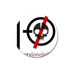 Twenty One Pilots Skull Magnet 3  (round) by Onesevenart