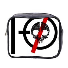 Twenty One Pilots Skull Mini Toiletries Bag 2 Side by Onesevenart