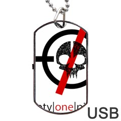 Twenty One Pilots Skull Dog Tag Usb Flash (two Sides) by Onesevenart
