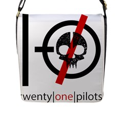 Twenty One Pilots Skull Flap Messenger Bag (l)  by Onesevenart
