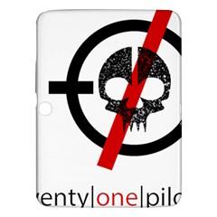 Twenty One Pilots Skull Samsung Galaxy Tab 3 (10 1 ) P5200 Hardshell Case  by Onesevenart