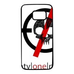 Twenty One Pilots Skull Samsung Galaxy S7 Black Seamless Case by Onesevenart