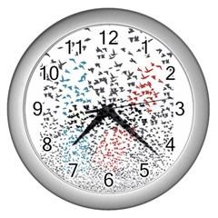 Twenty One Pilots Birds Wall Clocks (silver)  by Onesevenart