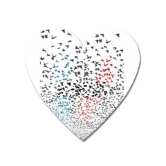 Twenty One Pilots Birds Heart Magnet by Onesevenart
