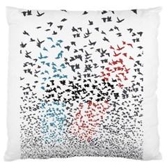 Twenty One Pilots Birds Large Cushion Case (two Sides) by Onesevenart