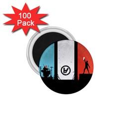Twenty One 21 Pilots 1 75  Magnets (100 Pack)  by Onesevenart