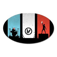 Twenty One 21 Pilots Oval Magnet by Onesevenart