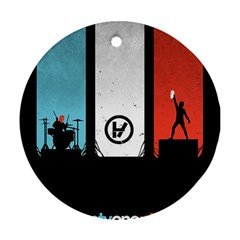 Twenty One 21 Pilots Round Ornament (two Sides) by Onesevenart