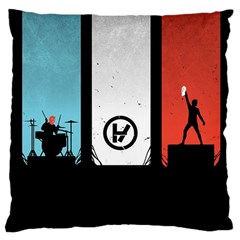 Twenty One 21 Pilots Large Cushion Case (two Sides) by Onesevenart